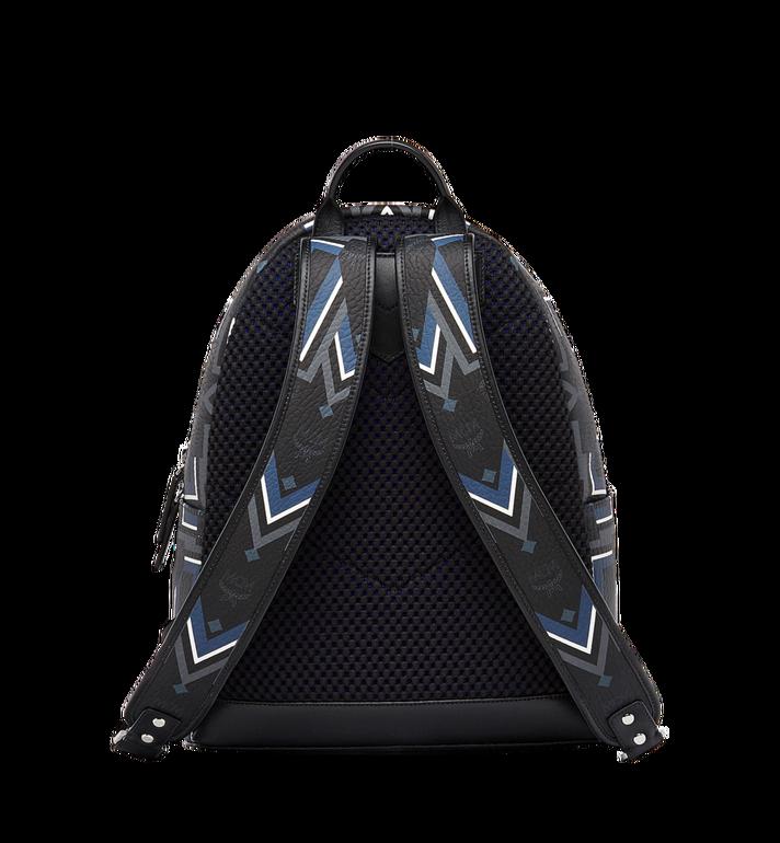 MCM Stark Gunta M Stripe Backpack in Visetos MMK8SVE53BK001 AlternateView4