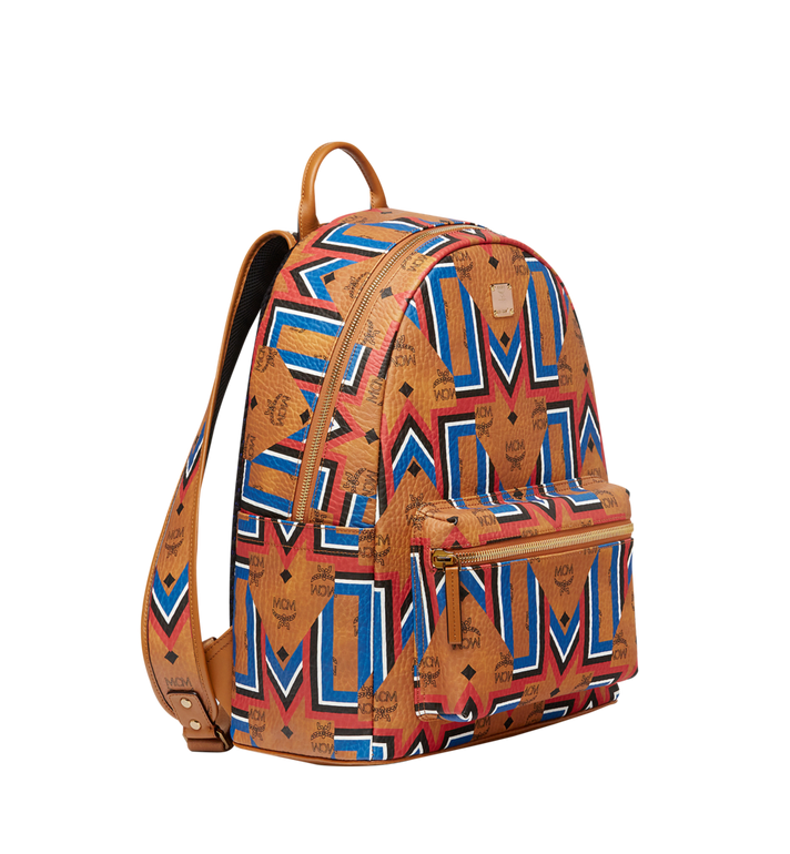 MCM Stark Gunta M Stripe Backpack in Visetos MMK8SVE53CO001 AlternateView2