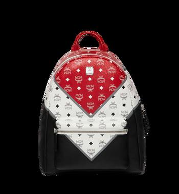 MCM Stark Chevron Backpack in Visetos Colorblock Leather MMK8SVE76BK001 AlternateView