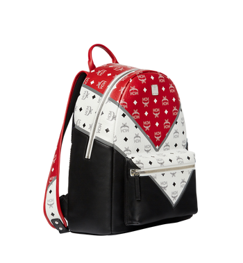 MCM Stark Chevron Backpack in Visetos Colorblock Leather MMK8SVE76BK001 AlternateView2