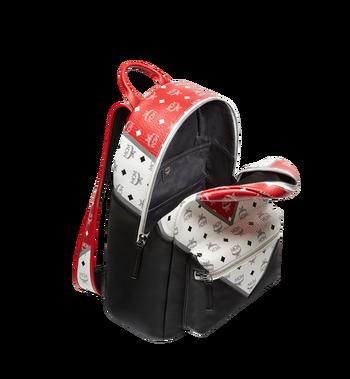 MCM Stark Chevron Backpack in Visetos Colorblock Leather MMK8SVE76BK001 AlternateView5