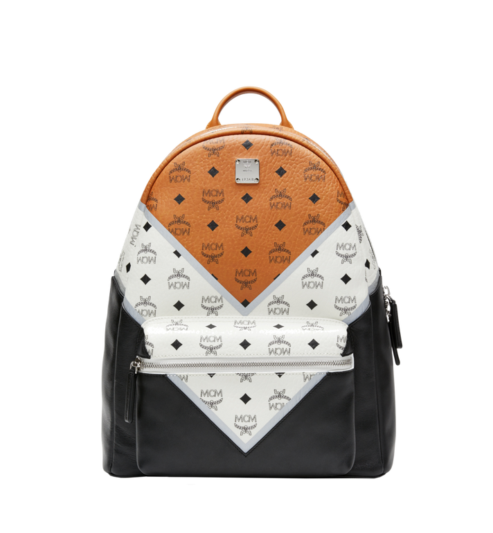 MCM Stark Chevron Backpack in Visetos Colorblock Leather MMK8SVE76CO001 AlternateView1