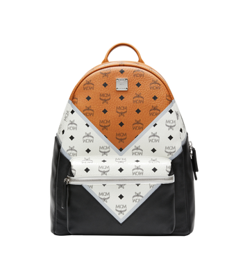 MCM Stark Chevron Backpack in Visetos Colorblock Leather MMK8SVE76CO001 AlternateView