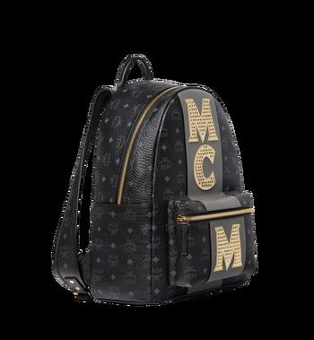 MCM Stark Logo Stripe Backpack in Visetos MMK8SVE82BK001 AlternateView2