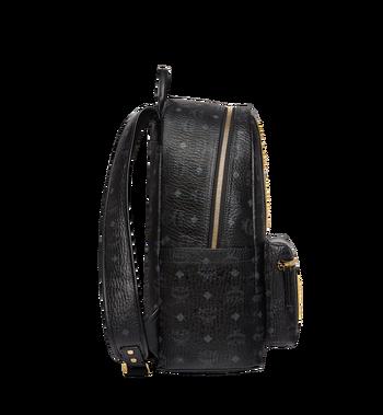 MCM Stark Logo Stripe Backpack in Visetos MMK8SVE82BK001 AlternateView3