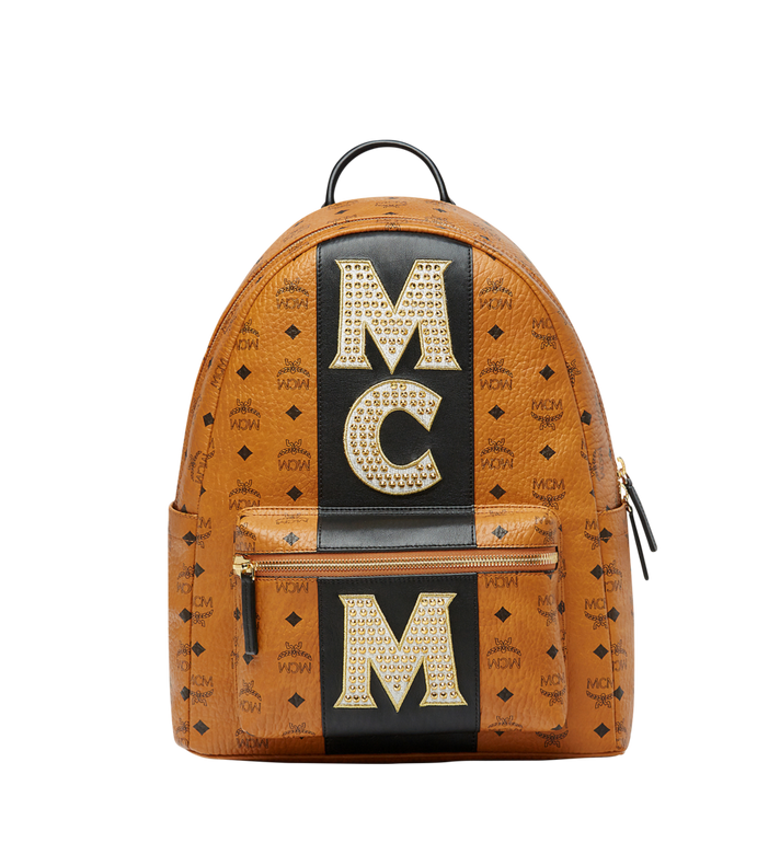 MCM Stark Logo Stripe Backpack in Visetos MMK8SVE82CO001 AlternateView