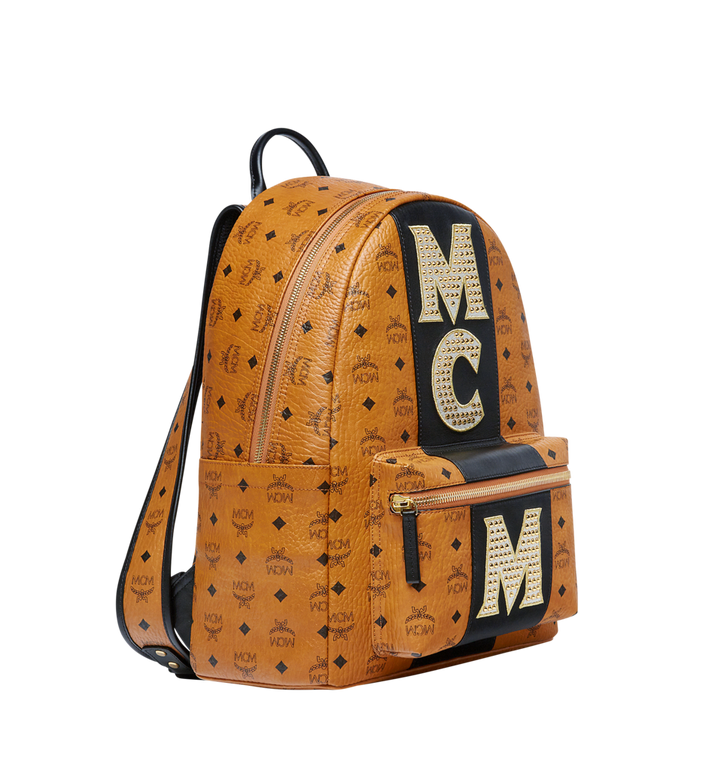 MCM Stark Logo Stripe Backpack in Visetos MMK8SVE82CO001 AlternateView2