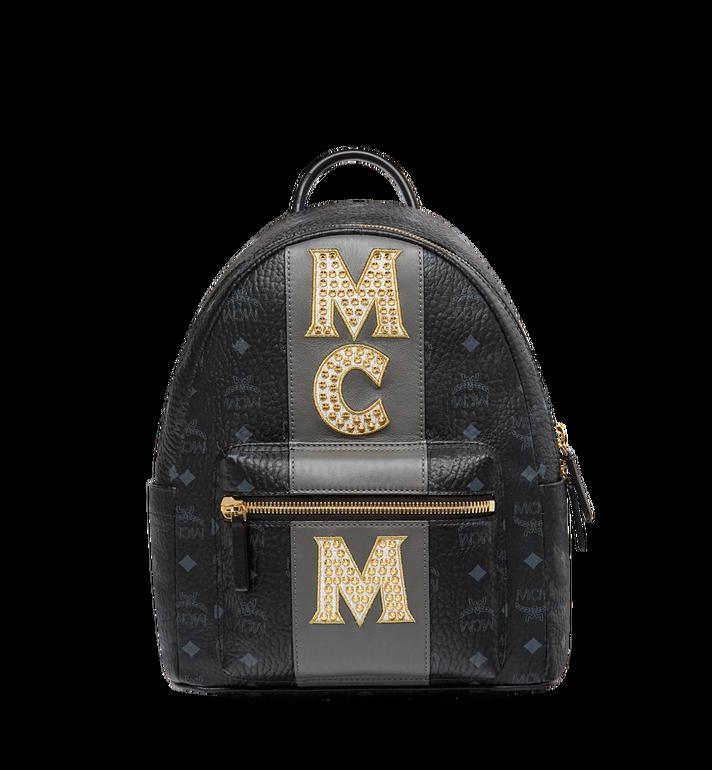 MCM Stark Logo Stripe Backpack in Visetos MMK8SVE84BK001 AlternateView