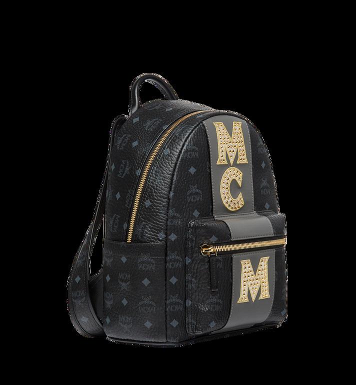 MCM Stark Logo Stripe Backpack in Visetos MMK8SVE84BK001 AlternateView2