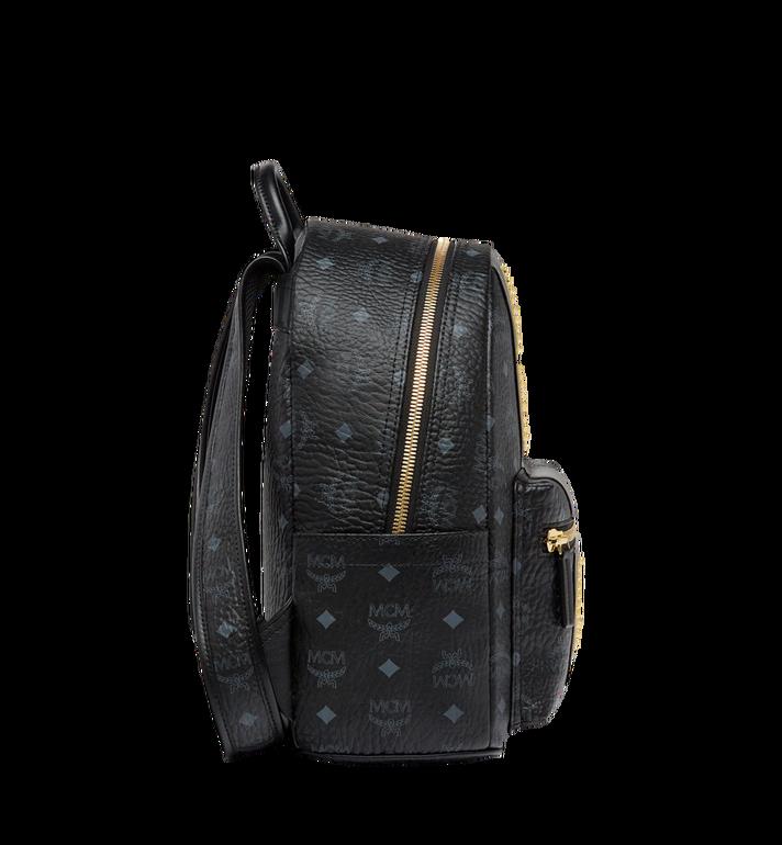 MCM Stark Logo Stripe Backpack in Visetos MMK8SVE84BK001 AlternateView3