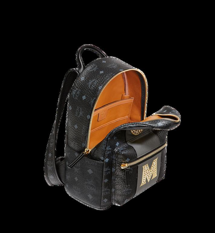 MCM Stark Logo Stripe Backpack in Visetos MMK8SVE84BK001 AlternateView5