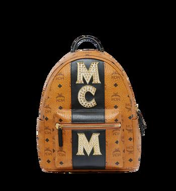 MCM Stark Logo Stripe Backpack in Visetos MMK8SVE84CO001 AlternateView