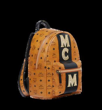 MCM Stark Logo Stripe Backpack in Visetos MMK8SVE84CO001 AlternateView2