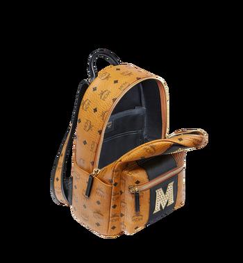 MCM Stark Logo Stripe Backpack in Visetos MMK8SVE84CO001 AlternateView5