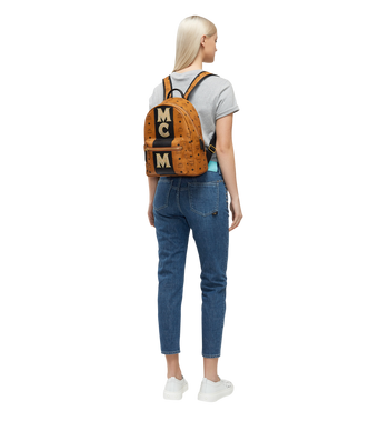 MCM Stark Logo Stripe Backpack in Visetos MMK8SVE84CO001 AlternateView6
