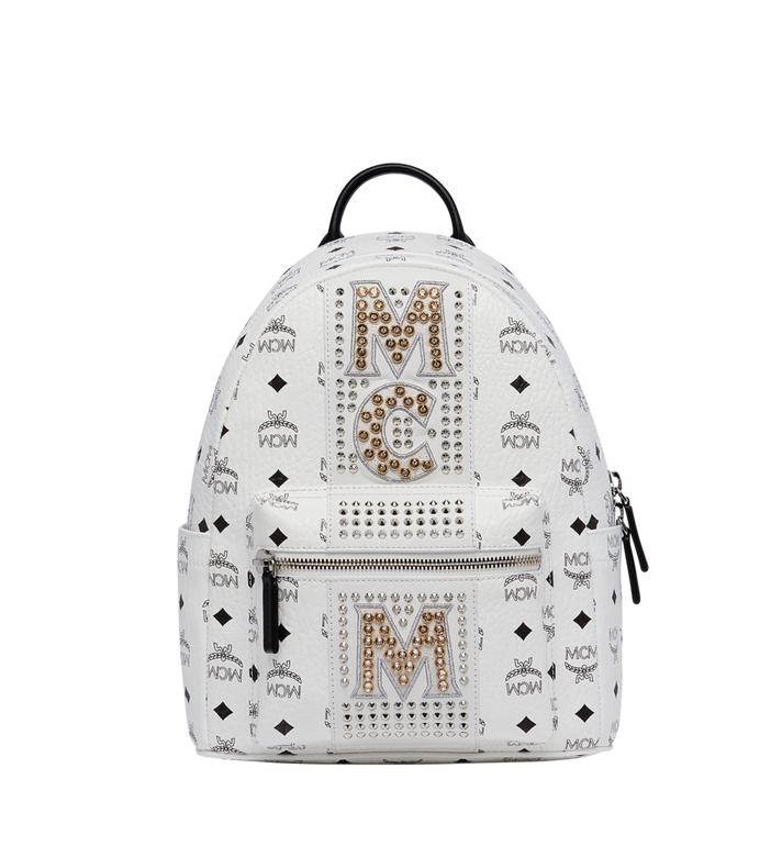7b0d22a202 32 cm   12.5 in Stark Logo Stripe Backpack in Visetos White