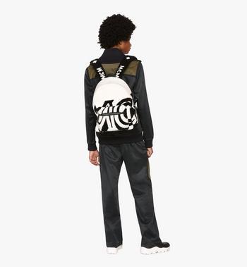 MCM Stark Backpack in Contrast Logo Shearling Alternate View 5