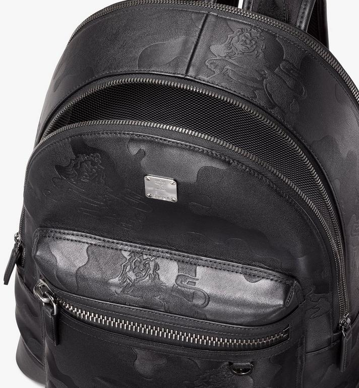 MCM Stark Backpack in Embossed Lion Camo Alternate View 4