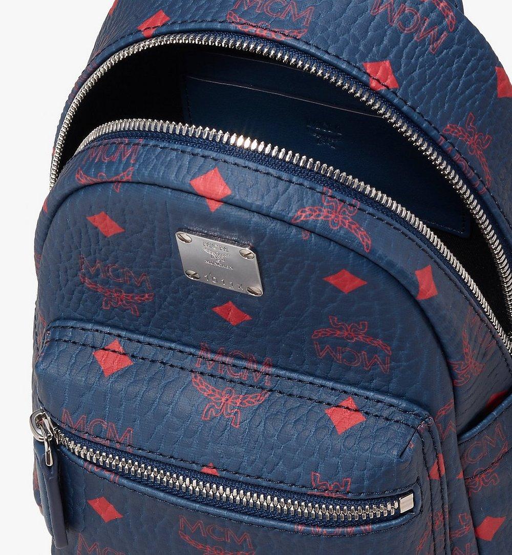 MCM Stark Bebe Boo Backpack in Visetos Blue MMK9AVE33VS001 Alternate View 3