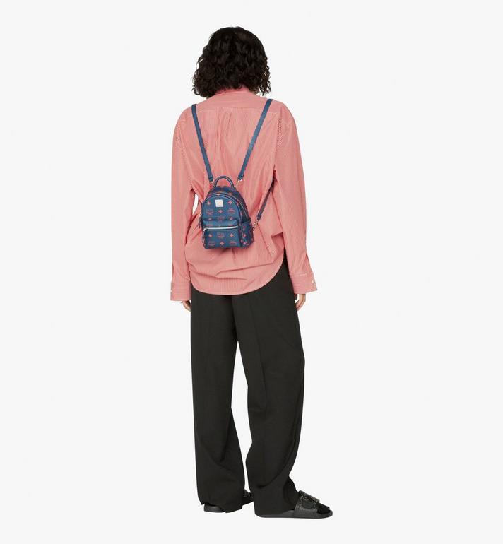 MCM Stark Bebe Boo Backpack in Visetos Blue MMK9AVE33VS001 Alternate View 5