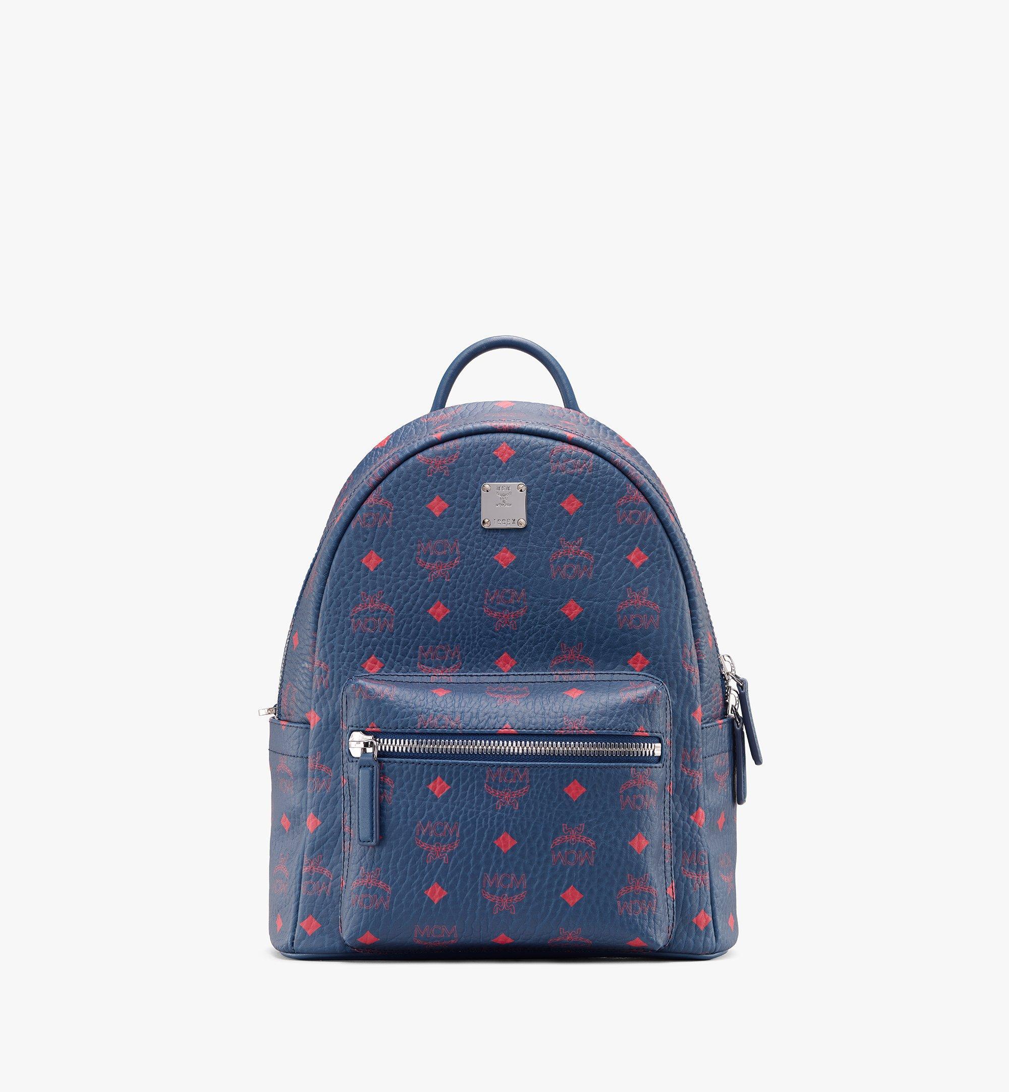 MCM Stark Backpack in Visetos Blue MMK9AVE51VS001 Alternate View 1