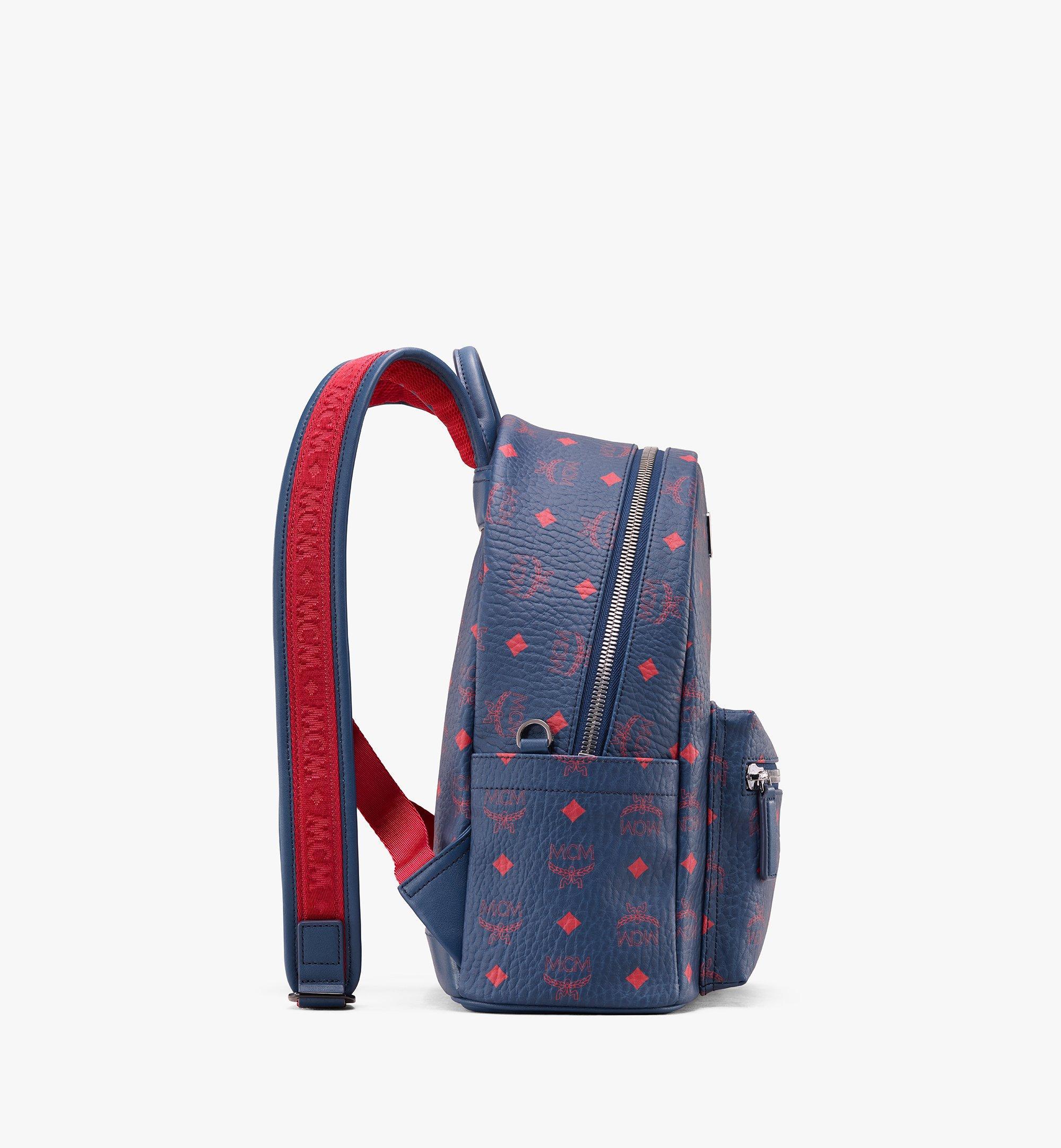 MCM Stark Backpack in Visetos Blue MMK9AVE51VS001 Alternate View 2