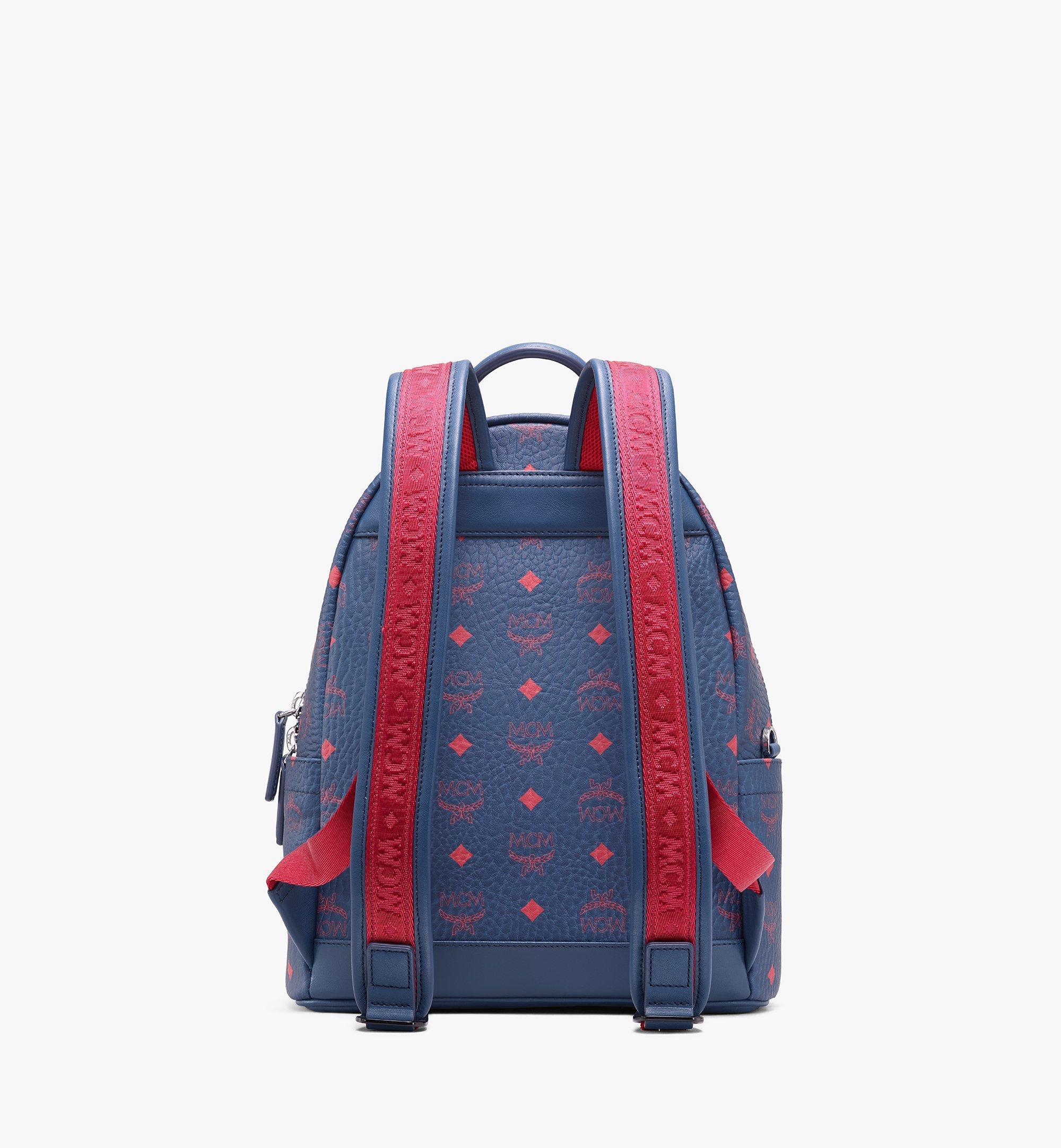 MCM Stark Backpack in Visetos Blue MMK9AVE51VS001 Alternate View 3