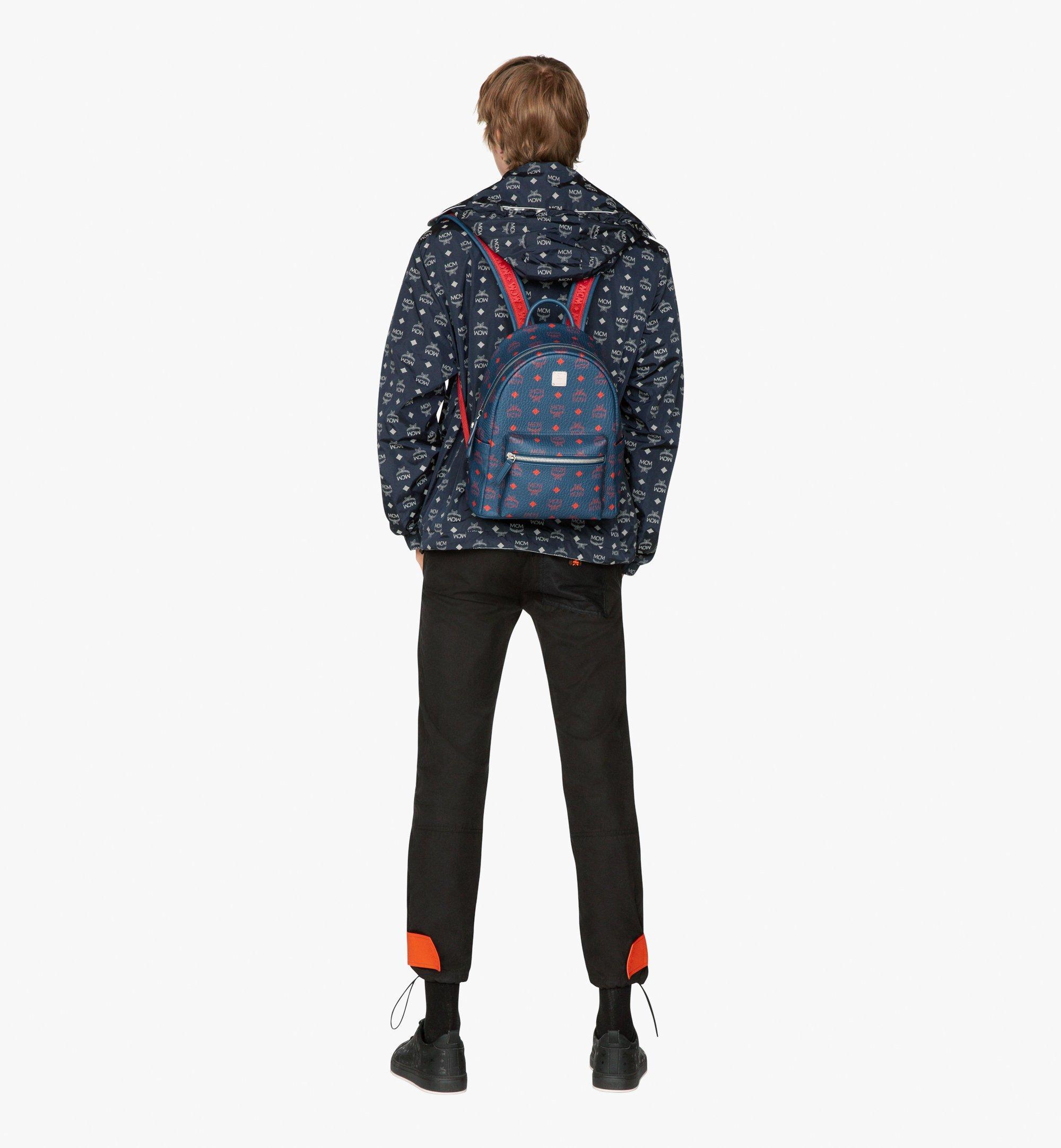 MCM Stark Backpack in Visetos Blue MMK9AVE51VS001 Alternate View 5