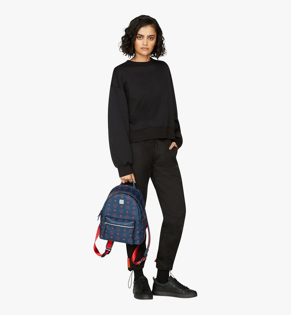 MCM Stark Backpack in Visetos Blue MMK9AVE51VS001 Alternate View 4