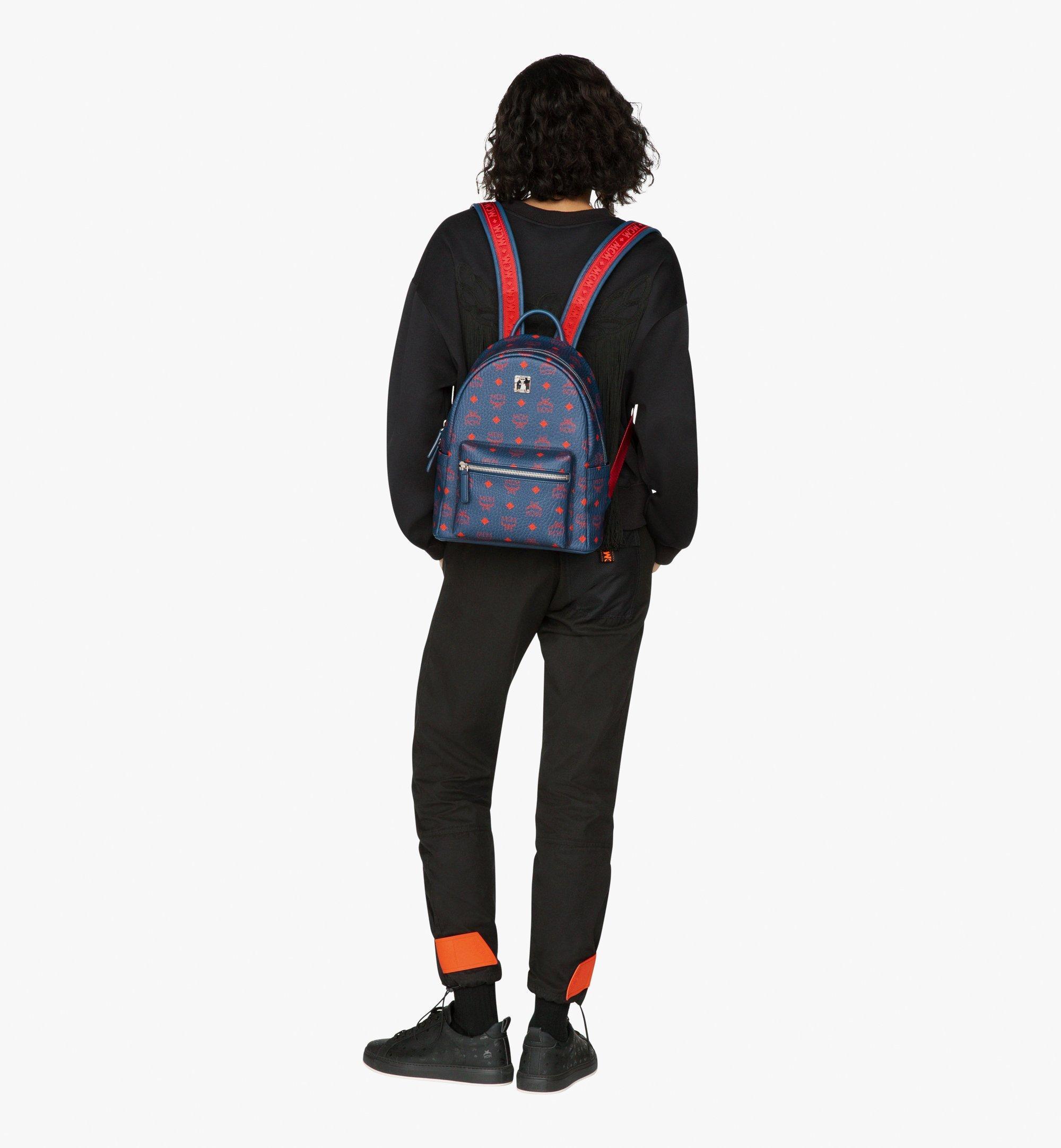 MCM Stark Backpack in Visetos Blue MMK9AVE51VS001 Alternate View 7