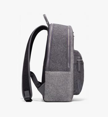 MCM Stark Loden Backpack Grey MMK9AVE52EP001 Alternate View 2