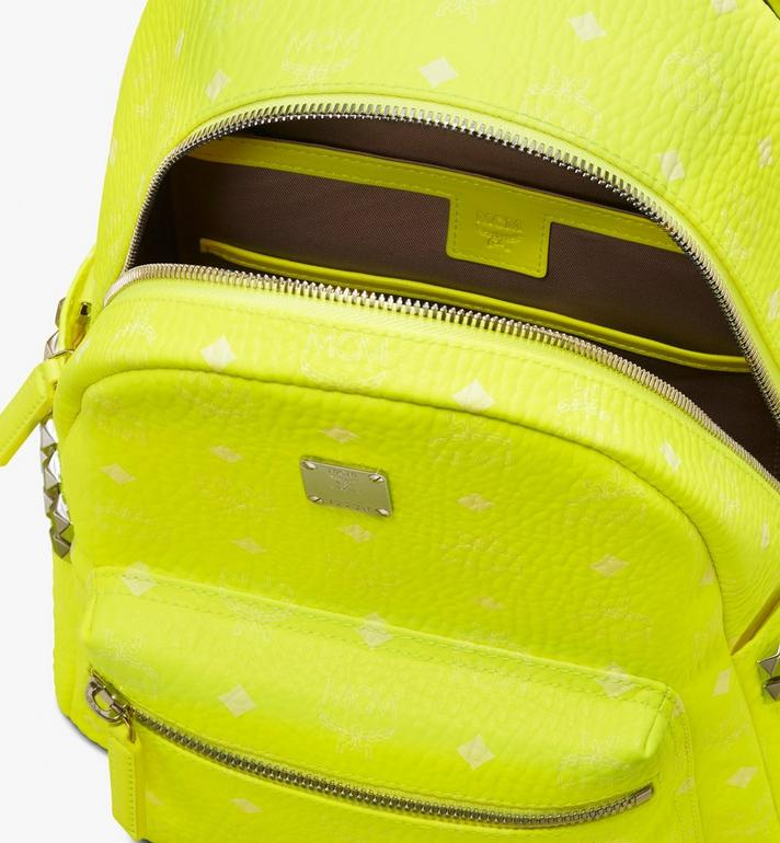 MCM Stark Rucksack in Neon Visetos  MMK9AVE56YN001 Alternate View 4