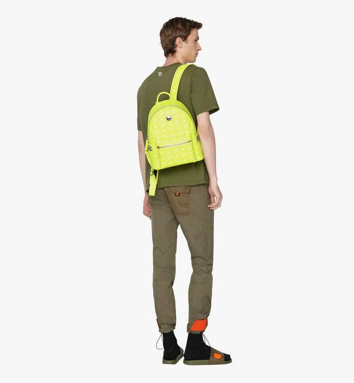MCM Stark Rucksack in Neon Visetos  MMK9AVE56YN001 Alternate View 5