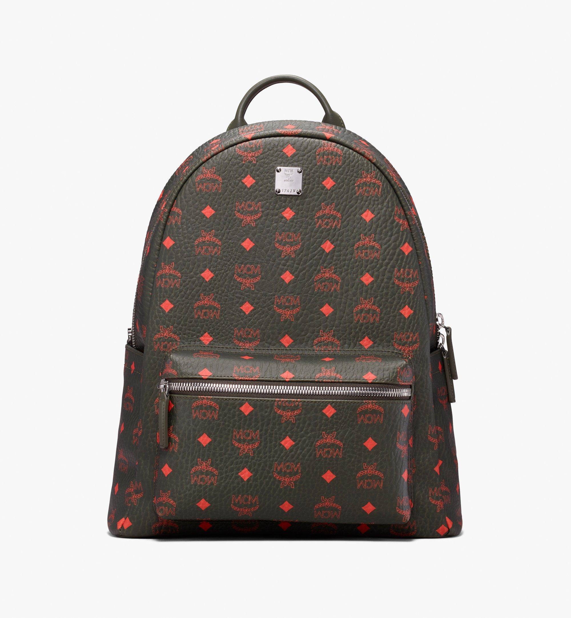 MCM Stark Backpack in Visetos Green MMK9AVE59G8001 Alternate View 1