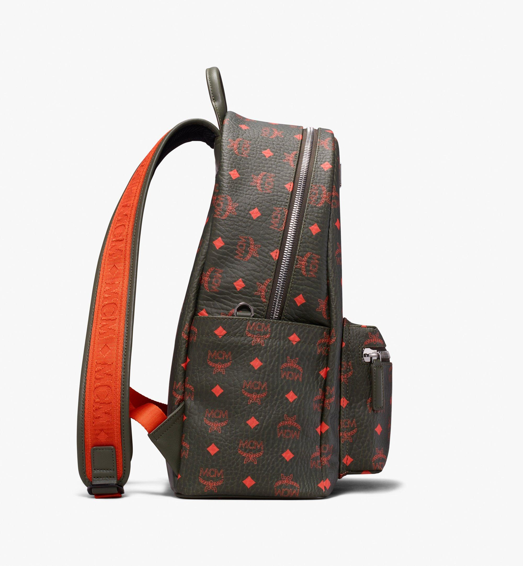 MCM Stark Backpack in Visetos Green MMK9AVE59G8001 Alternate View 2