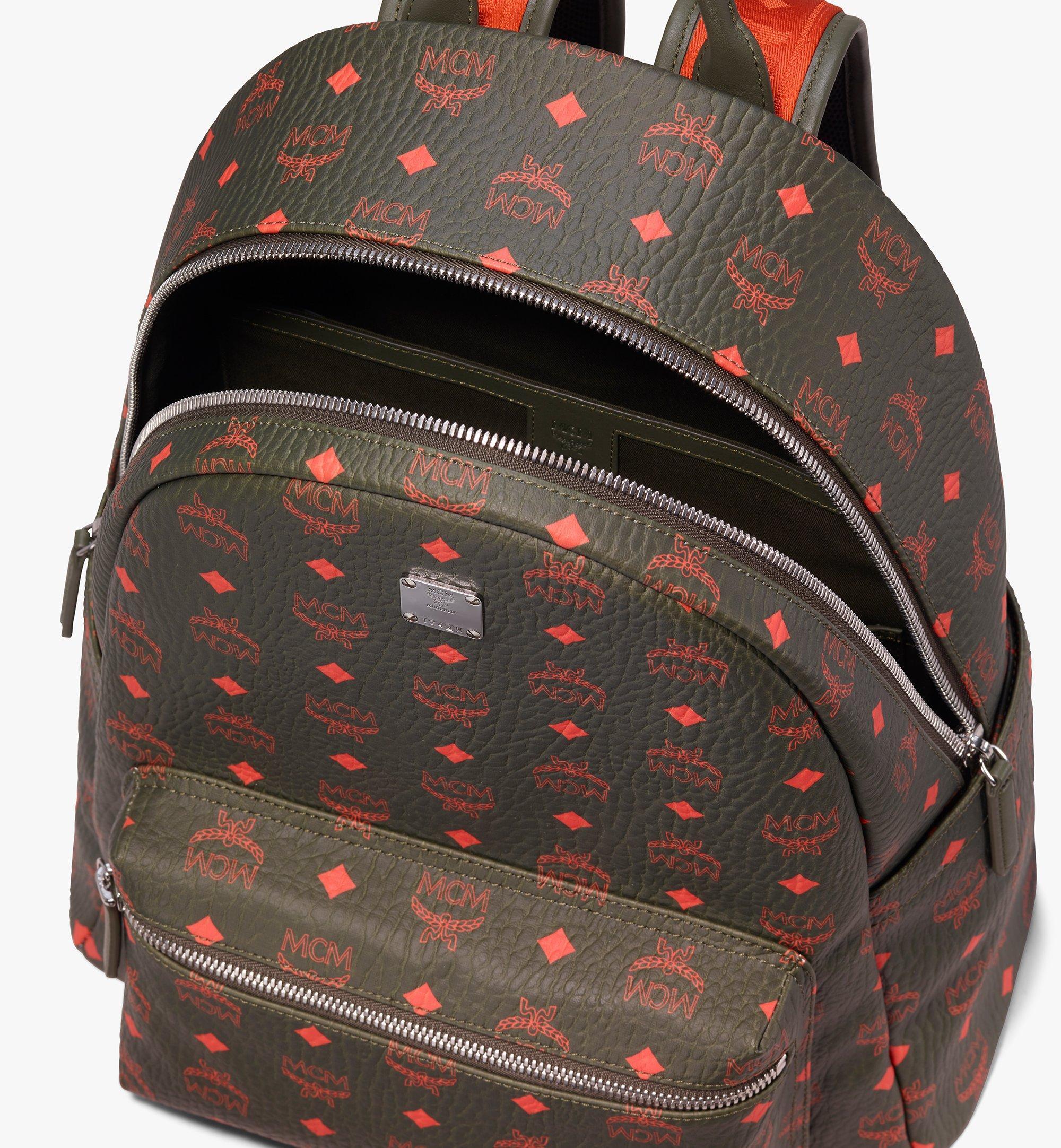 MCM Stark Backpack in Visetos Green MMK9AVE59G8001 Alternate View 4