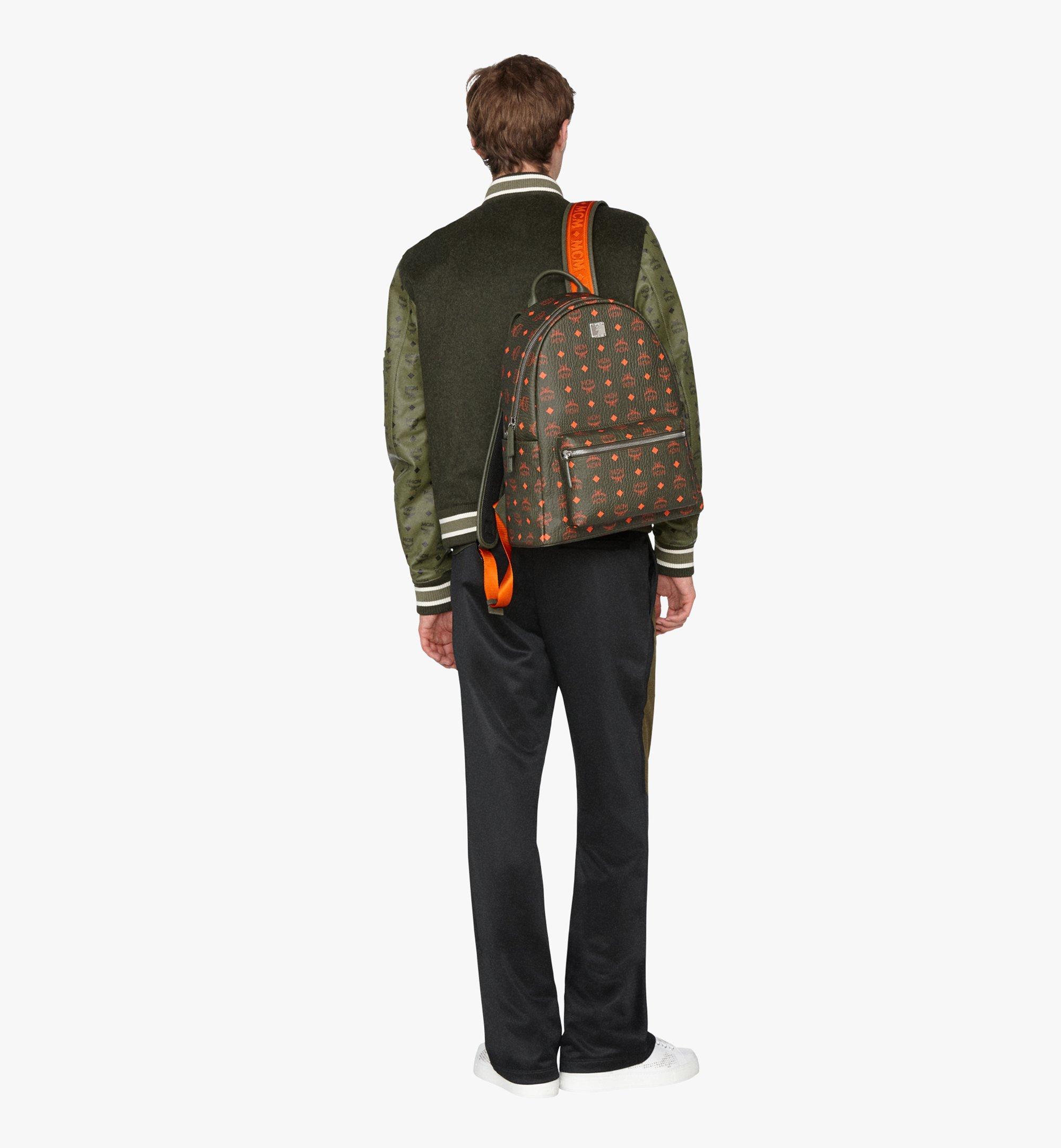 MCM Stark Backpack in Visetos Green MMK9AVE59G8001 Alternate View 5