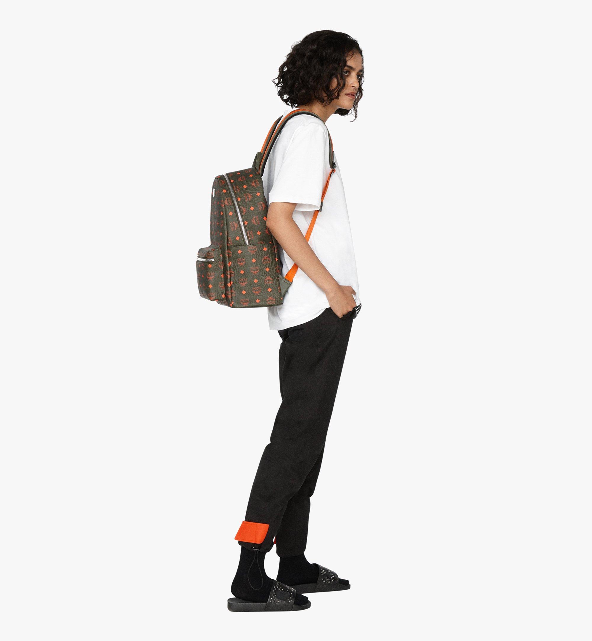 MCM Stark Backpack in Visetos Green MMK9AVE59G8001 Alternate View 6