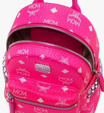 MCM Stark Bebe Boo Backpack in Neon Visetos Alternate View 4