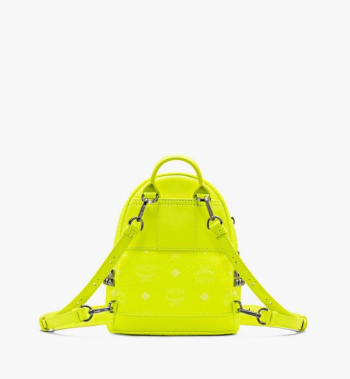 MCM Stark Bebe Boo Backpack in Neon Visetos Alternate View 3