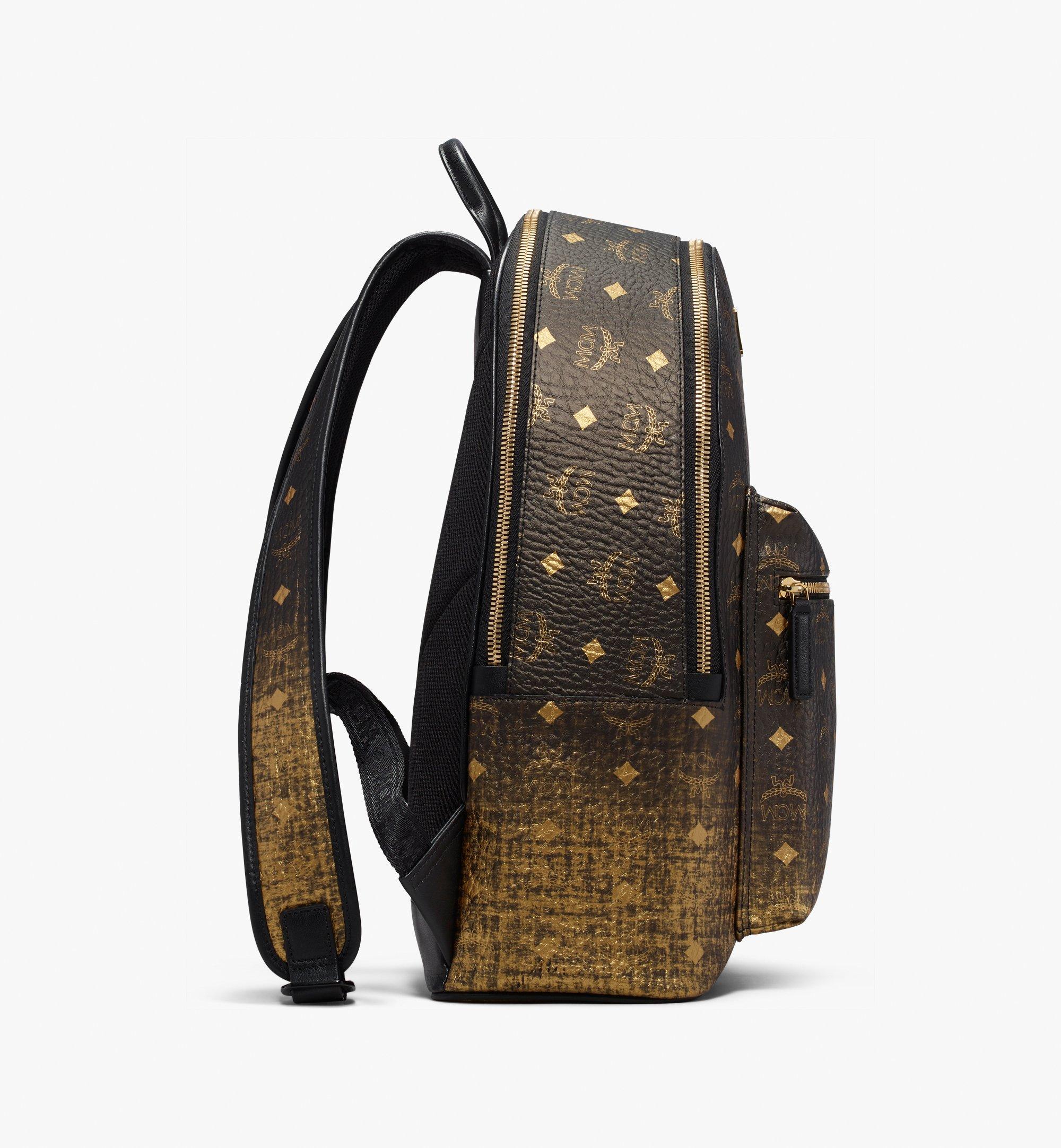 40 cm 16 in Stark Backpack in Gradation Visetos Gold | MCM® DE