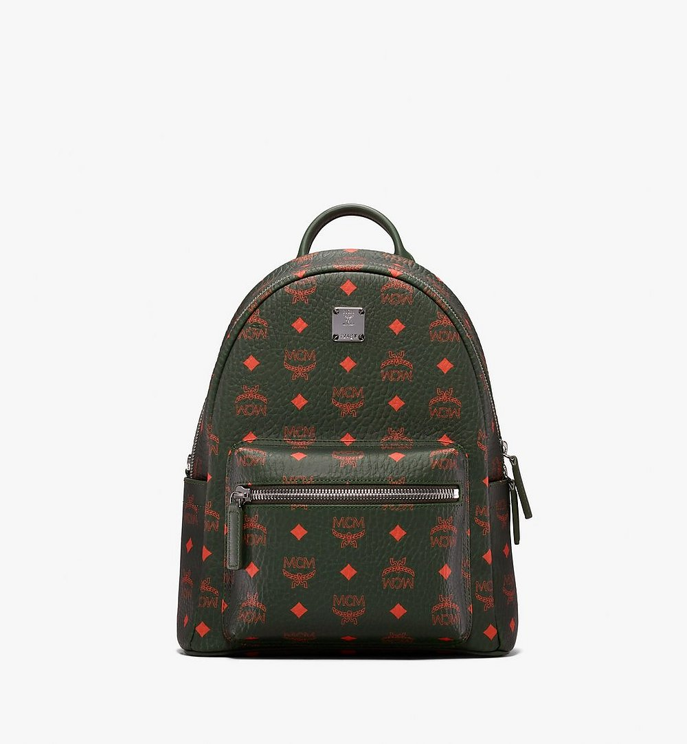 MCM Stark Backpack in Visetos Green MMK9AVE97G8001 Alternate View 1