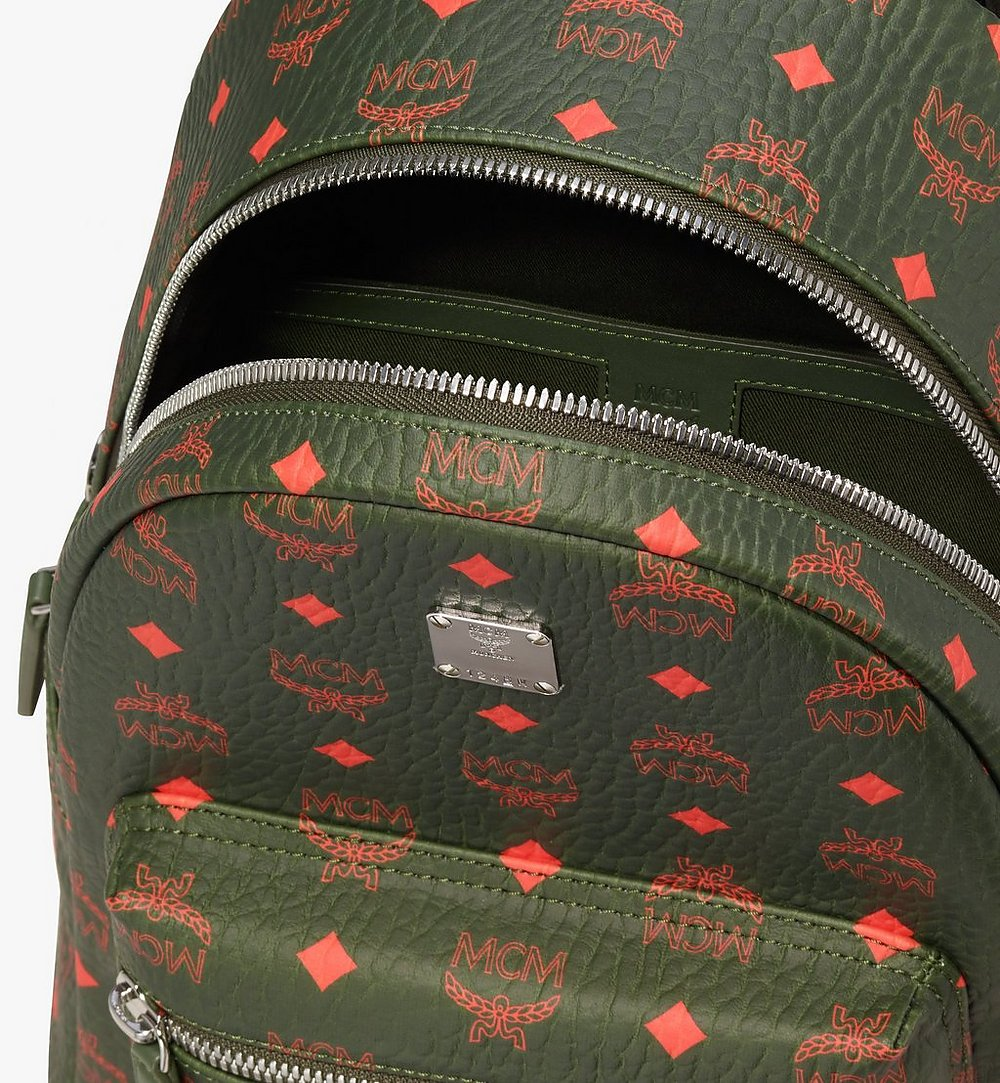 MCM Stark Backpack in Visetos Green MMK9AVE97G8001 Alternate View 3