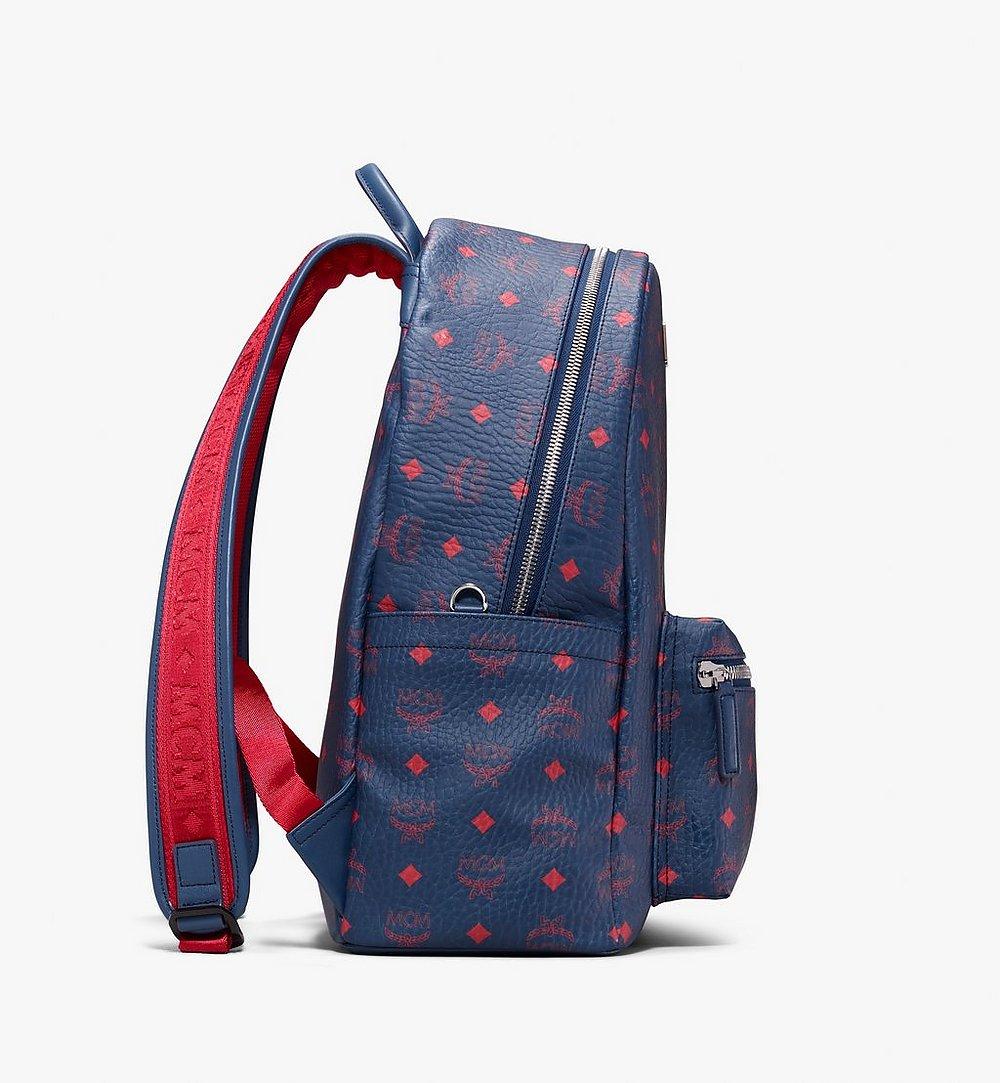 MCM Stark Backpack in Visetos Blue MMK9AVE98VS001 Alternate View 1