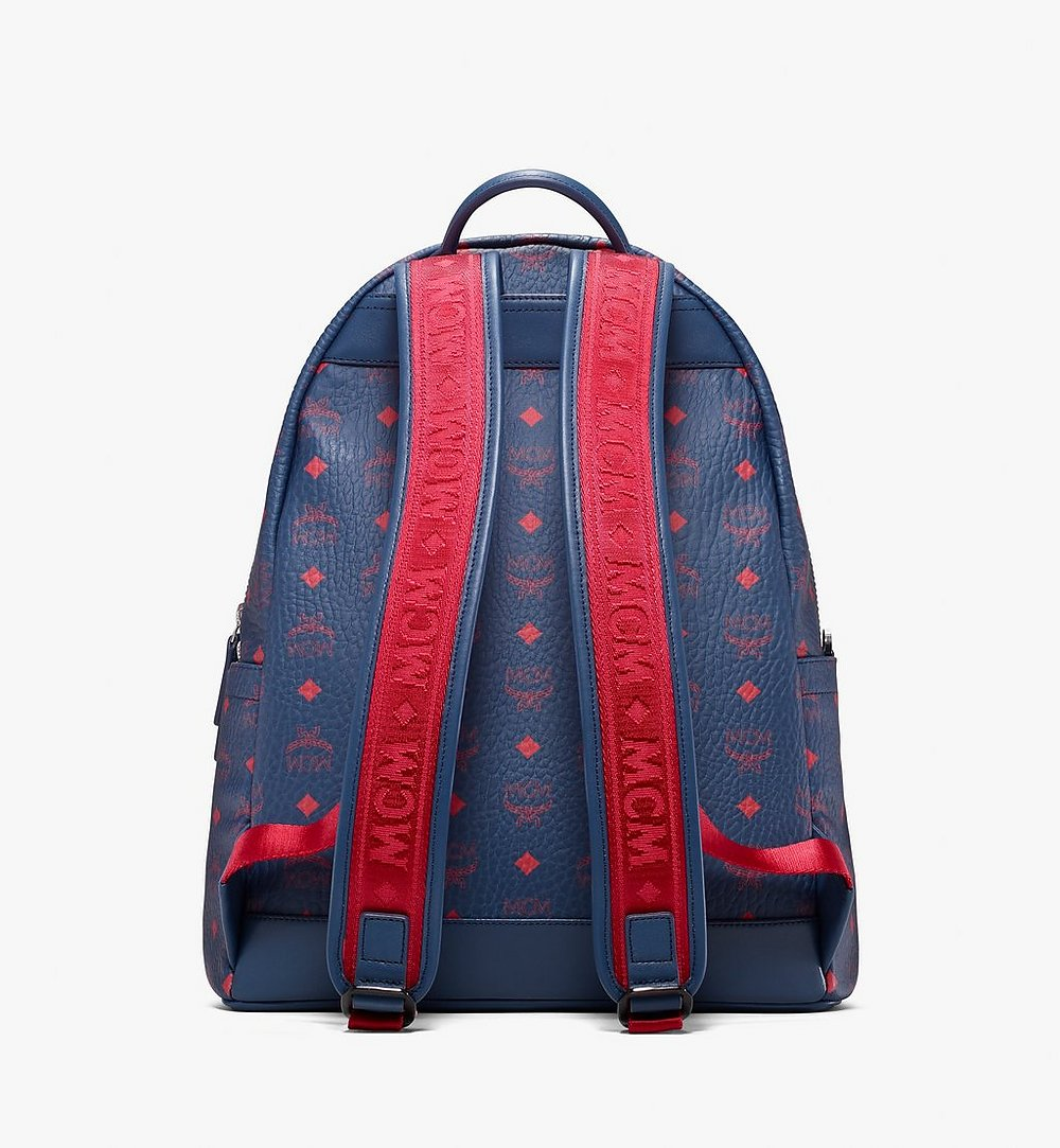 MCM Stark Backpack in Visetos Blue MMK9AVE98VS001 Alternate View 2