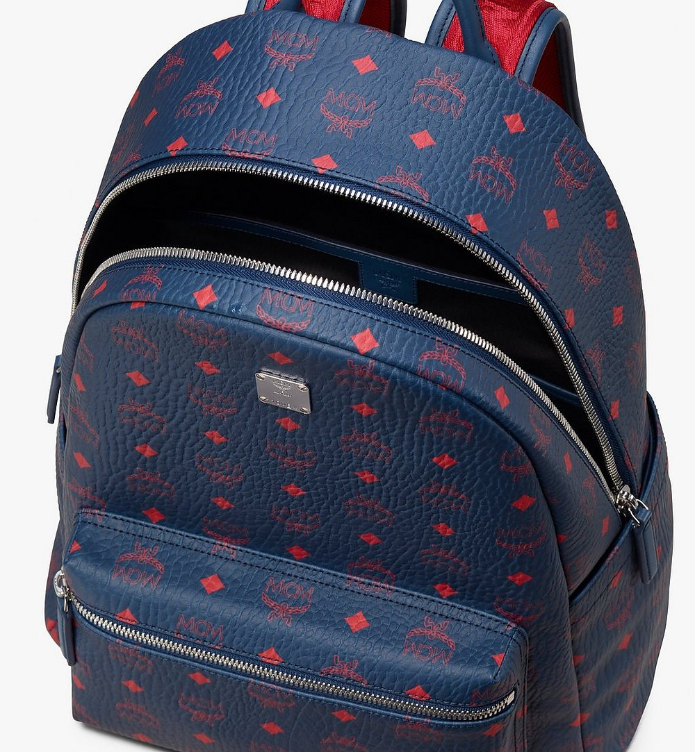MCM Stark Backpack in Visetos Blue MMK9AVE98VS001 Alternate View 3