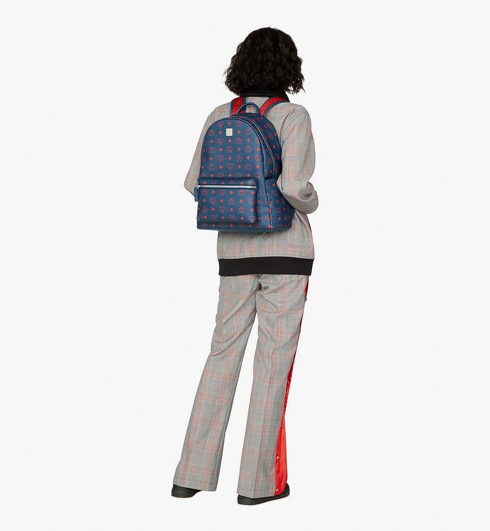 MCM Stark Backpack in Visetos Blue MMK9AVE98VS001 Alternate View 4