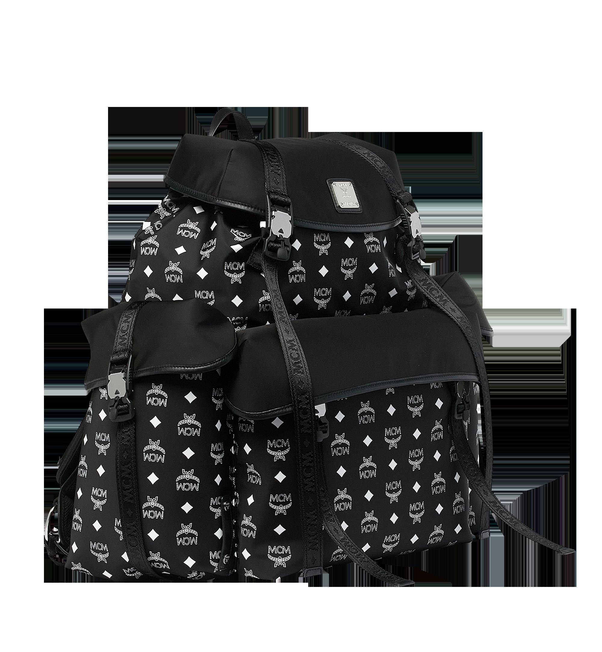 MCM Luft Multi-Pocket Backpack in Nylon Black MMK9SNX30BK001 Alternate View 2