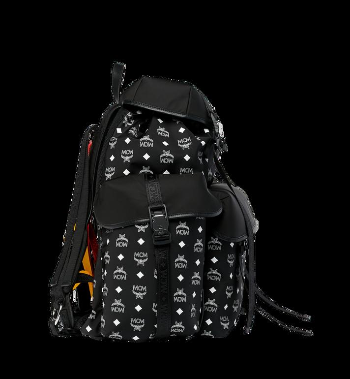 MCM Luft Multi-Pocket Backpack in Nylon Black MMK9SNX30BK001 Alternate View 3