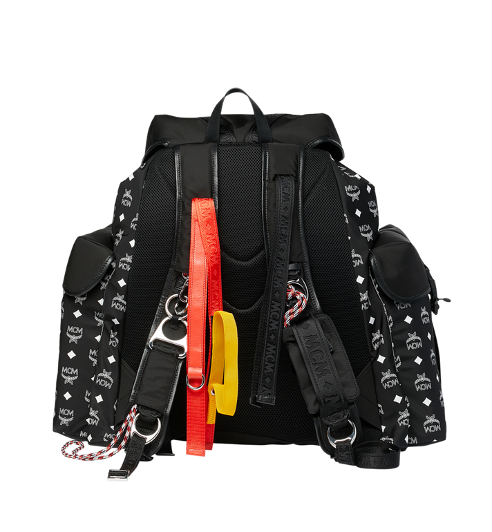 MCM Luft Multi-Pocket Backpack in Nylon Black MMK9SNX30BK001 Alternate View 4